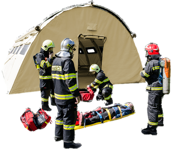 NIXUS PRO - Modular, general purpose, heavy duty, inflatable tent - all weather capable