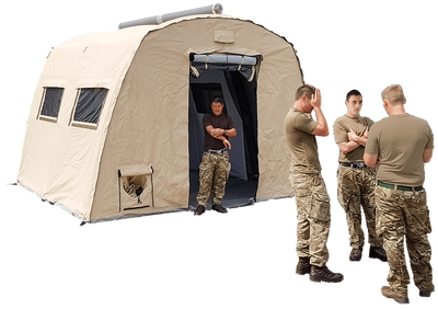 NIXUS ERA - Modular, general purpose, heavy duty, inflatable tent with near vertical sides