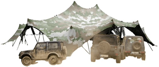 NIXUS STRETCH – An Elastic Canopy that can be erected in minutes and creates up to 300m2 of shelter