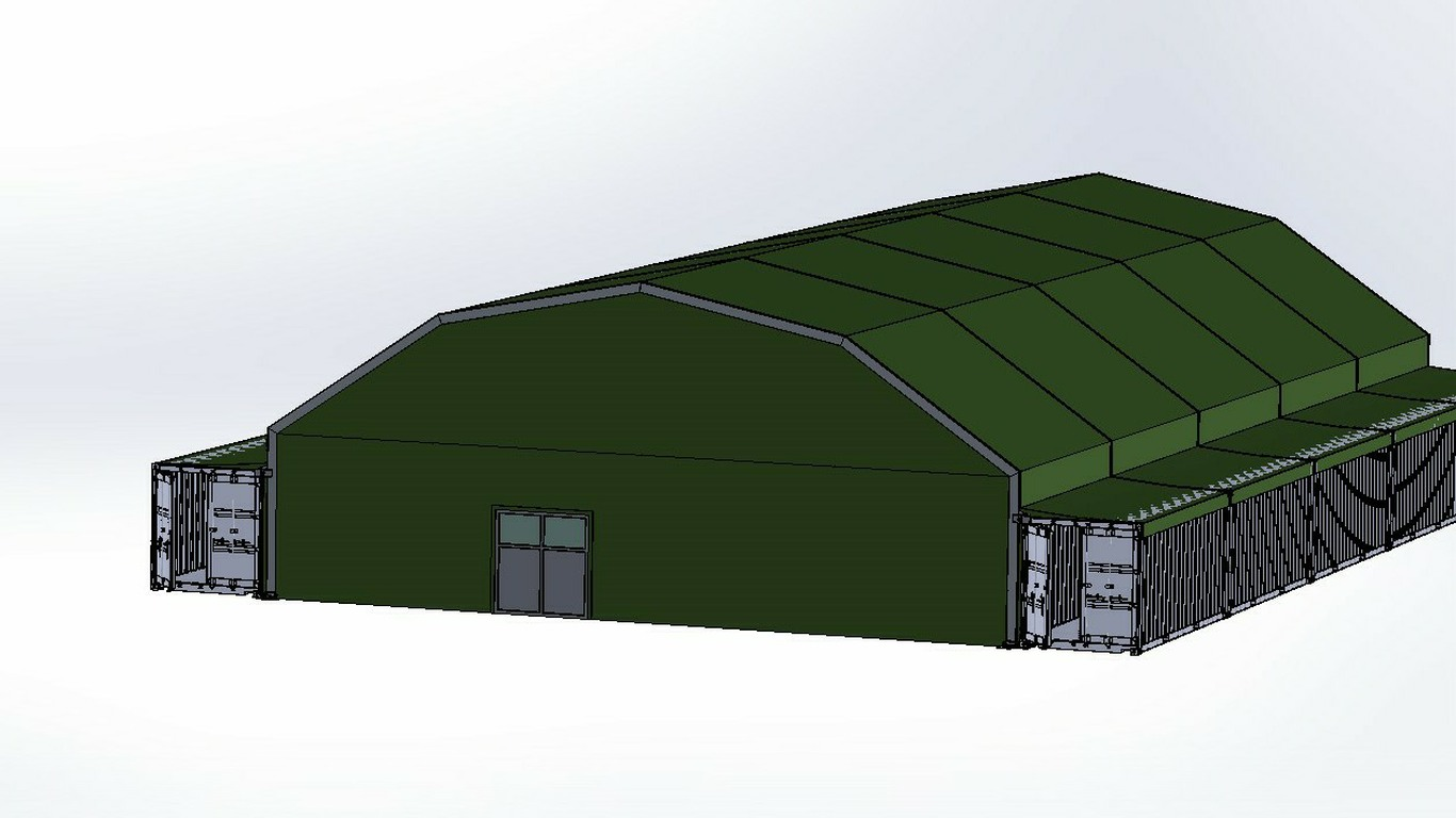 Nixus PRO SH Military Tents configured with central hub