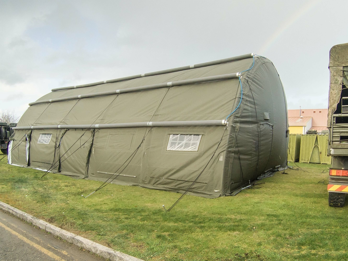 RIBS 10.5m Span Inflatable Building - Fully Inflated and ready for use in under 2 hrs