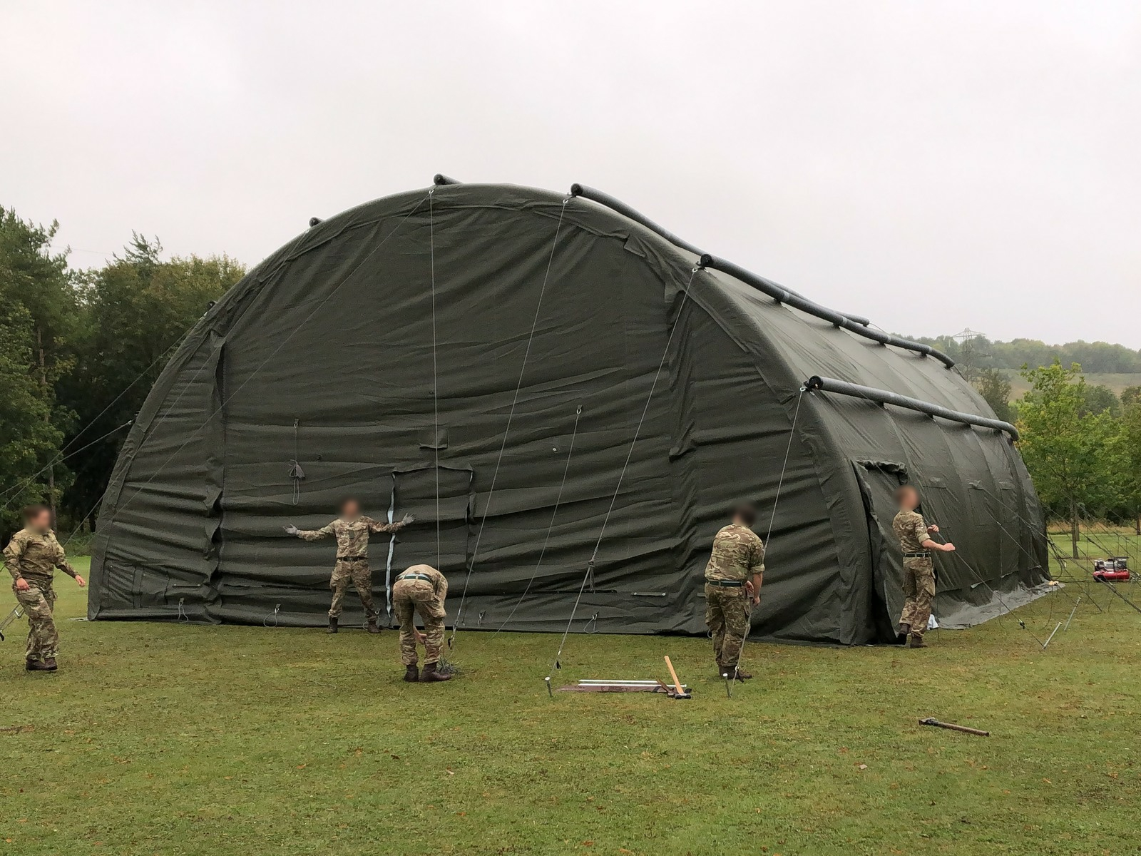 NIXUS RIBS 12.5m Span Inflatable Building on trials