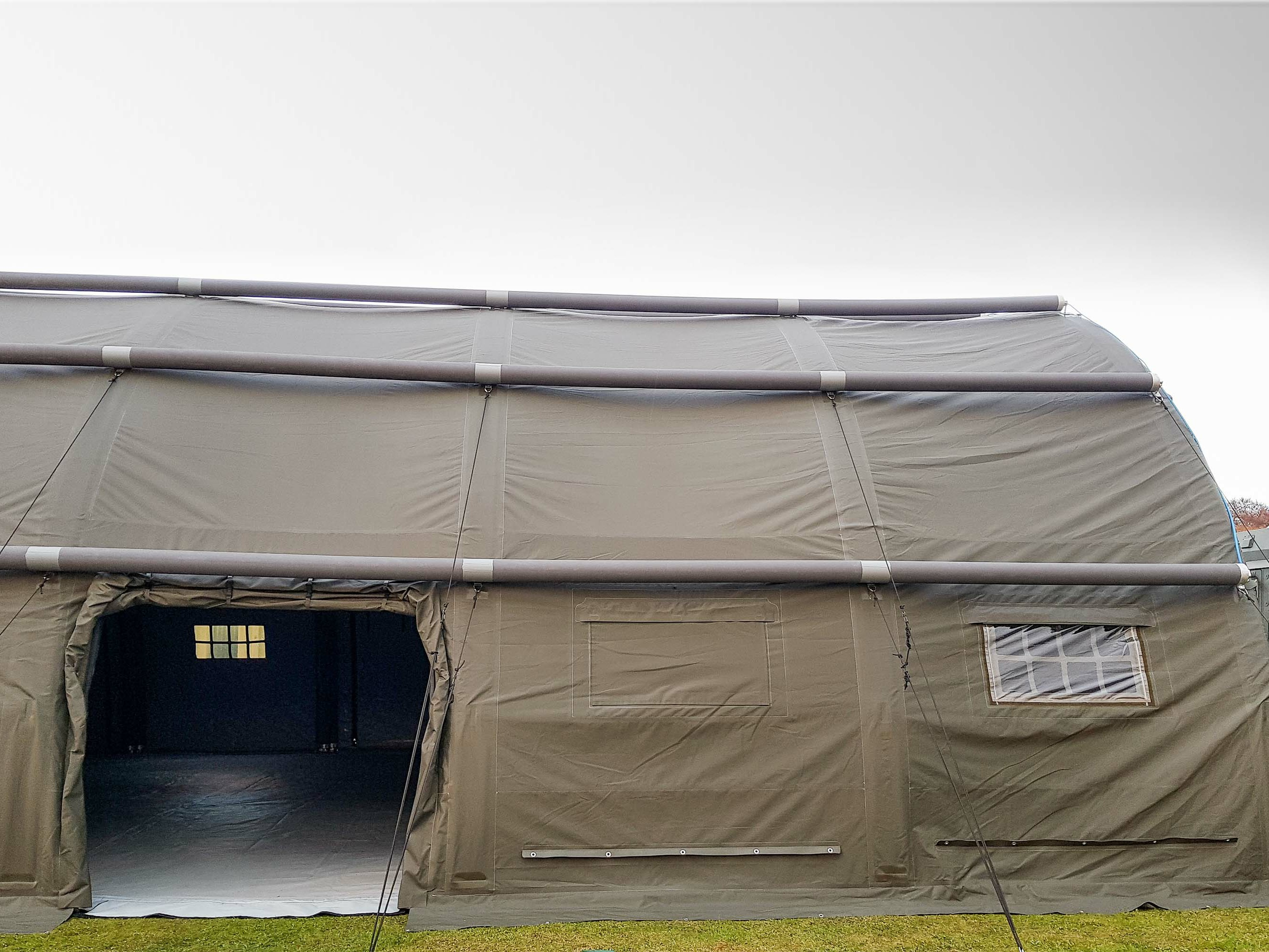 NIXUS 12.5m Span Inflatable Building - Side Entrance