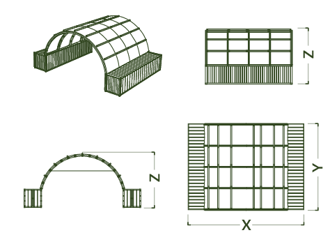 NIXUS Inflatable Container Building - Drawings