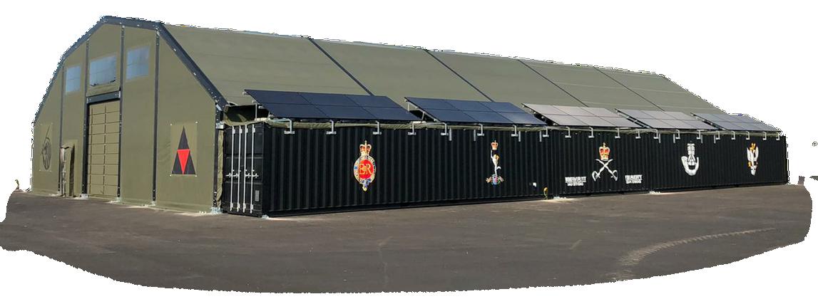 NIXUS Container Building - Aluminium Frame/Fabric Roof 60' x 100'